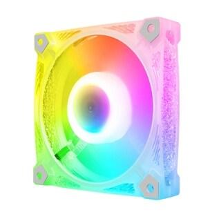 Quạt Máy Tính PC, Quạt Làm Mát RGB Điều Chỉnh, Quạt Vỏ RGB Làm Mát Máy Tính Điều Khiển Không Ồn 120Mm 4Pin PWM 5V 3Pin thumbnail
