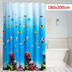180 Cm X 200 Cm Làm Dày PEVA Thế Giới Dưới Nước Phòng Tắm Không Thấm Nước Rèm Phòng Tắm Thêm Thả Dài Phân Vùng Nhà Vệ Sinh