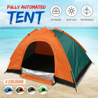 Hoàn Toàn Tự Động Lều Lều Cắm Trại 1-2 2-3 Người Một Hai Cửa, Lều Tự Động Khởi Động Tức Thì, Chống UV Không Thấm Nước Xách Tay Cắm Trại Ngoài Trời Leo Núi Đi Biển thumbnail