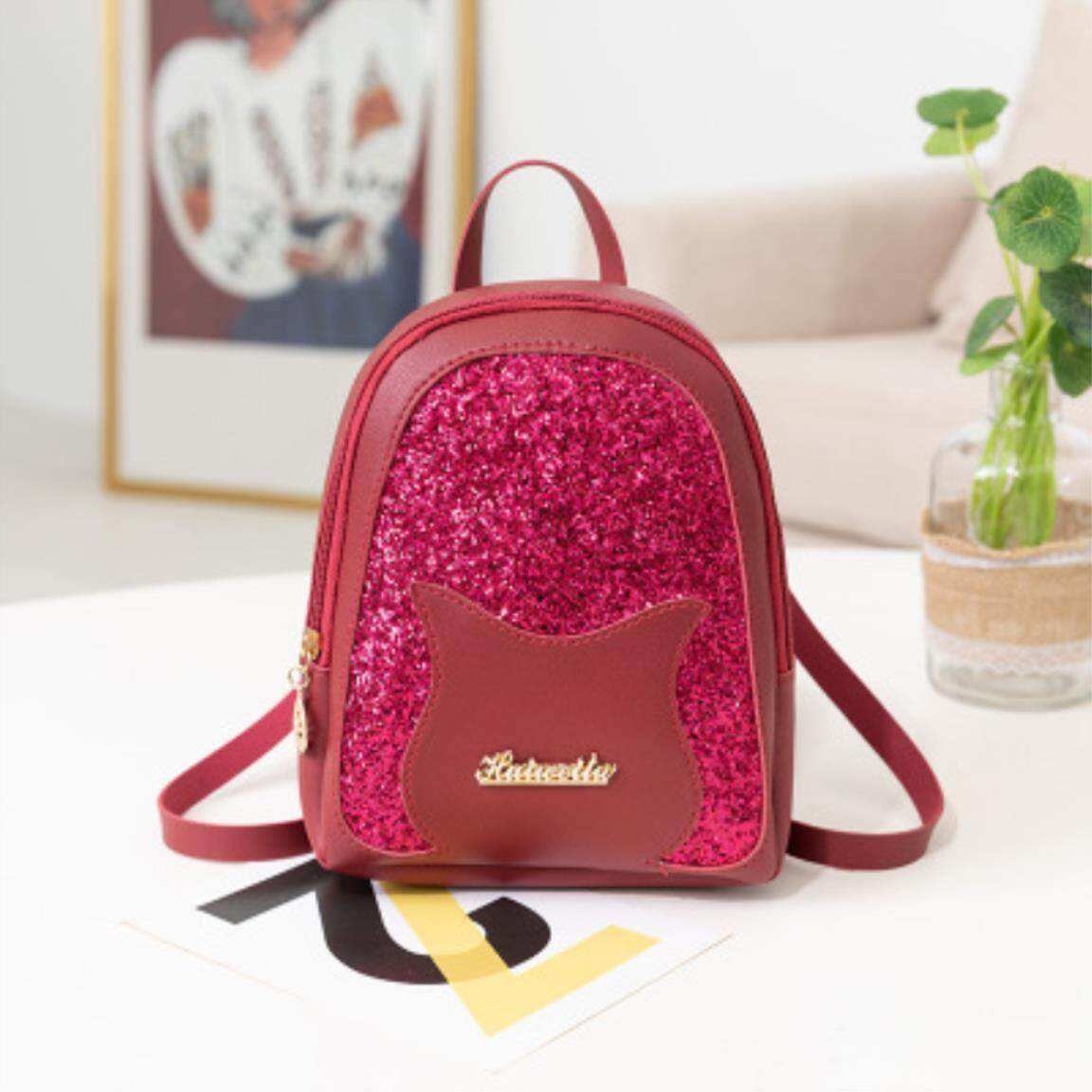 97a4c37bc47 ⭐High Quality⭐Girl S Small Backpack 2019 Brand Fashion Shining Sequin  Shoulder Bag Women Multi-function Mini Back Pack. Teenage Girls Kids