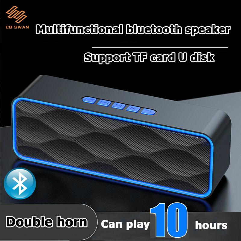 Loa Bluetooth Bluetooth Loa Xách tay loa âm thanh Loa không dây Chất lượng âm thanh cao ngoài trời Loa Bluetooth Sừng đôi Loa siêu trầm ô tô xe hơi với âm thanh nổi