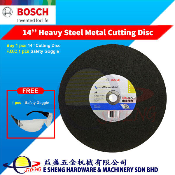 Bosch 14'' Expert for Heavy Metal Cutting Disc (355 x 2.8 x 25.4mm) – 3165140948913 F.O.C Safety Goggle