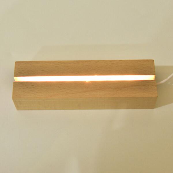 TSING Bằng Gỗ Đế Đèn Led Cáp USB Chuyển Đổi Đèn Ban Đêm 3D Led Đêm Đèn Cơ Sở