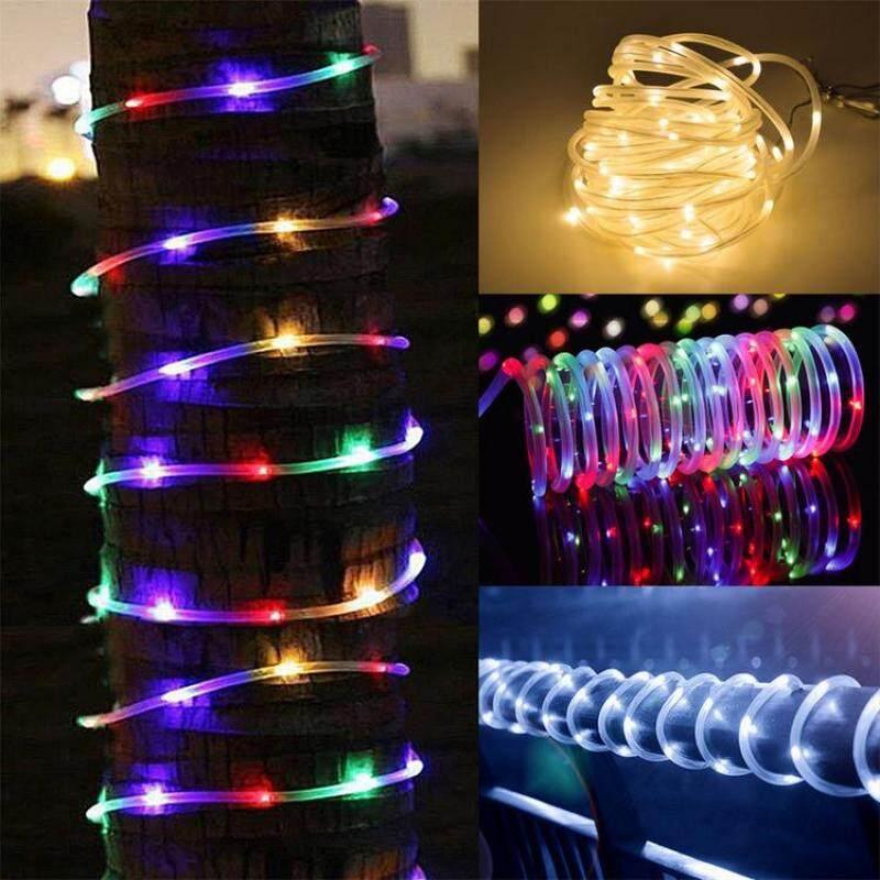 Đèn dây năng lượng mặt trời ngoài trời, đèn trang trí Giáng sinh chống nước với 8 chế độ