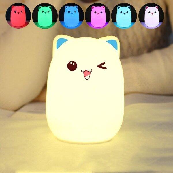 Bảng giá Đèn Ngủ LED Cảm Ứng Silicon Đèn Ngủ Cho Trẻ Em Đèn Ngủ LED USB Hình Gấu RGB Cho Trẻ Em Điều Khiển Từ Xa