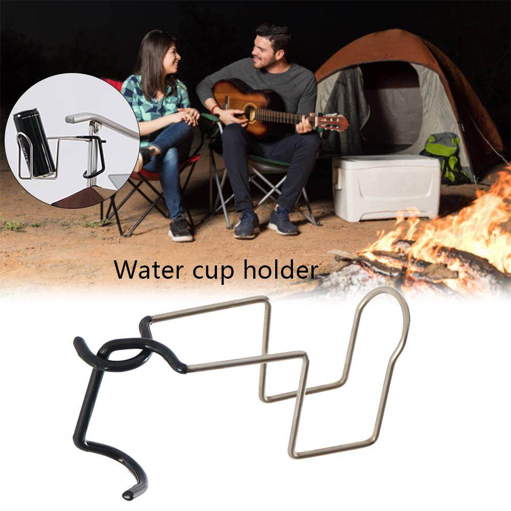 Cup Drink Holder 304 Stainless Steel Multi-function Cup Holder Lamp Hanging for Fishing Camping