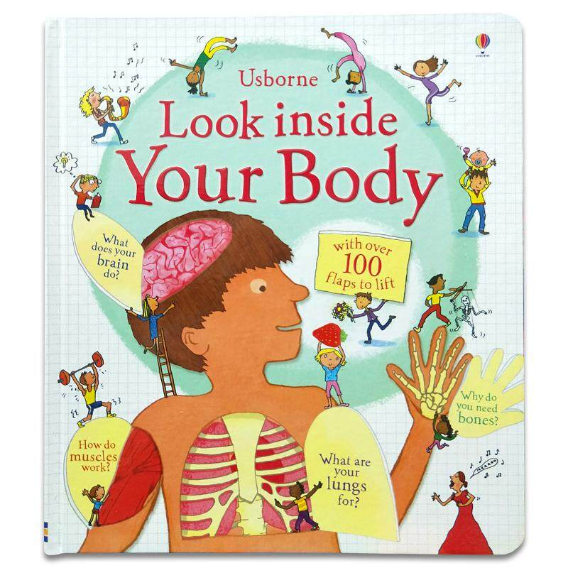 3D Usborne Look Inside Your Body Flap Book Early Learning English Word Card Board Book for Kids Children Gifts Flaps To Lift