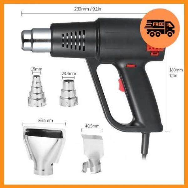 Hot Sale 2000W Industrial Fast Heating Hot Air Gun High Quality Handheld Heat Blower Electric Adjustable Temperature Heat Gun Tool (Black)