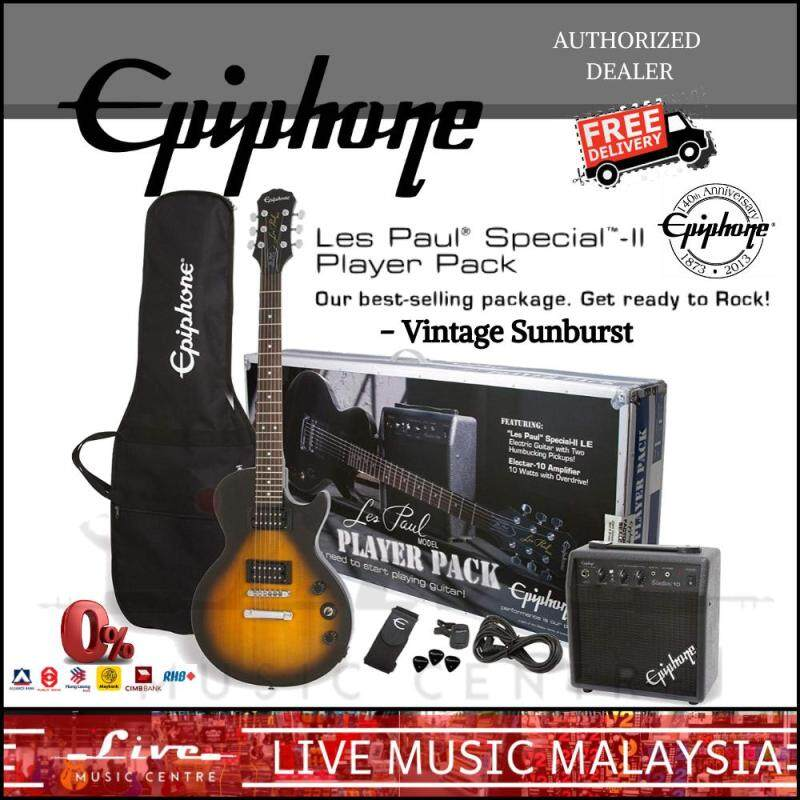 Epiphone Les Paul Special II Guitar Player Pack - Vintage Sunburst (Special-II) Malaysia