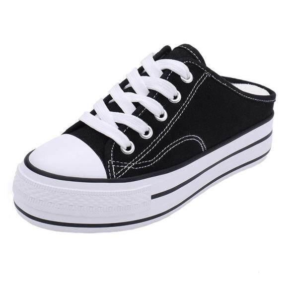 Giày Vải Đế Cao Cho Nữ, Giày Bánh Mì, Giày Lười Thông Dụng, Không Đế Dày, Tăng Chiều Cao Bên Trong giá rẻ