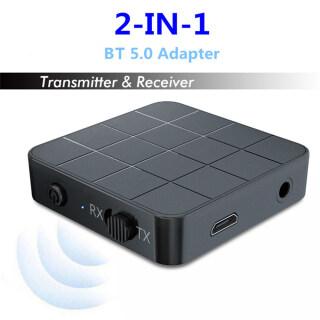 Bộ Thu Phát Âm Thanh Bluetooth 2 Trong 1, Bộ Chuyển Đổi Âm Thanh Máy Phát Nhạc Hi-Fi Âm Thanh Nổi Rảnh Tay 3.5Mm Aux Không Dây Dành Cho Loa DVD PC Gia Đình Xe Hơi Headphone MP3 MP4 thumbnail