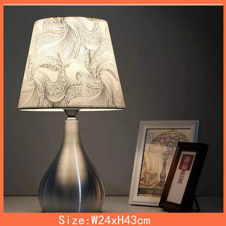 110v 240v Led Desk Lamp With E27 Bulb Modern Bedside Lamp Table Lamps For Bedroom Living Room Lighting White Light Lazada