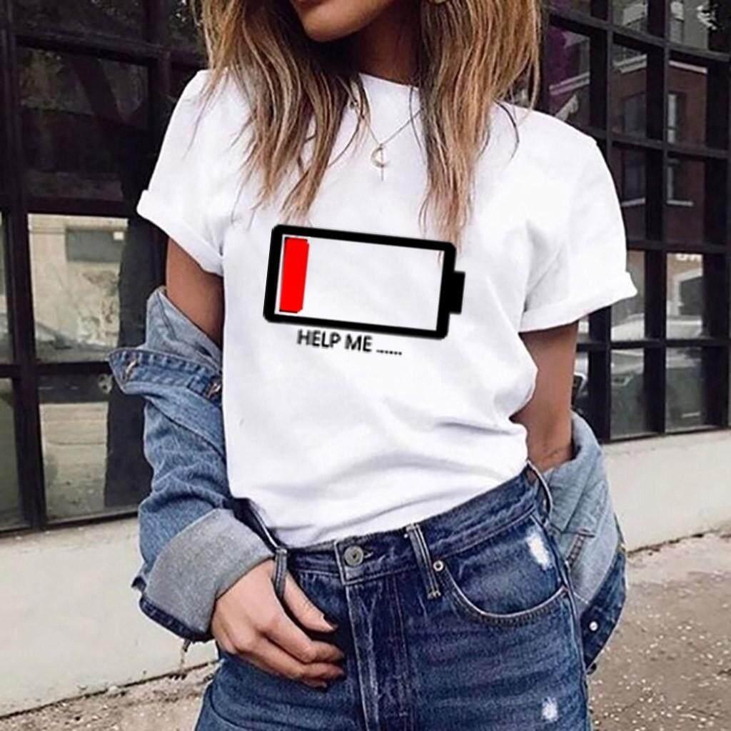 39e28bb8b309 Women Girls Plus Size Print Tees Shirt Short Sleeve T Shirt Blouse Tops