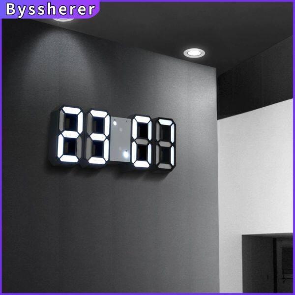 Nơi bán Đồng Hồ Báo Thức LED 3D Byssherer, Treo Tường, Số Có Lịch, Dùng Để Trang Trí Nhà Cửa Và Bàn ,Làm Quà tặng - INTL