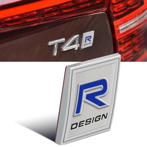 Rdesign Logo Biểu Tượng Gắn Thùng Xe Phía Sau R Thiết Kế Hông Xe Nhãn Dán Dạng Bảng Cho Volvo V40 V60 V90 XC60 XC90 XC40 S60 S90 S80 C30