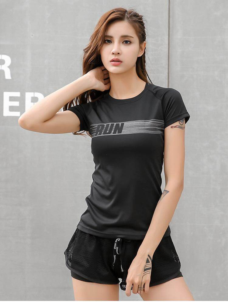T-shirt Women Short Sleeve Yoga Wear Running Tops Quick Dry T Shirt Woman Gym