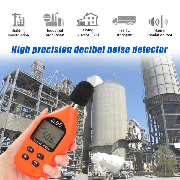 K JD-105 Digital Noise Detector Mini Lightweight High Accuracy Decibel Monitoring Device Sound Level Meter with LCD Backlight