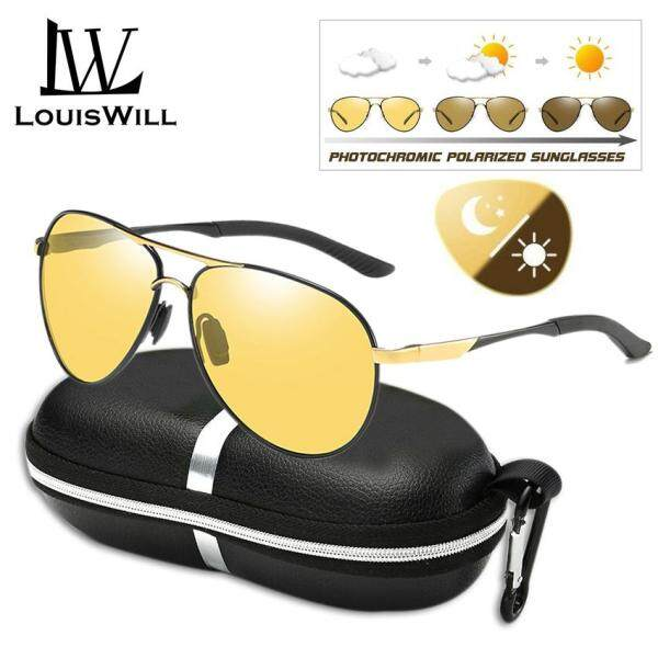 Mua LouisWill Polarized Sunglasses Men Photochromic Sunglasses UV400 Protection Eyewear Sun Glasses Polarized Lens Men Shades Polarized Photochromic Sunglasses for Outdoor Sports Driving