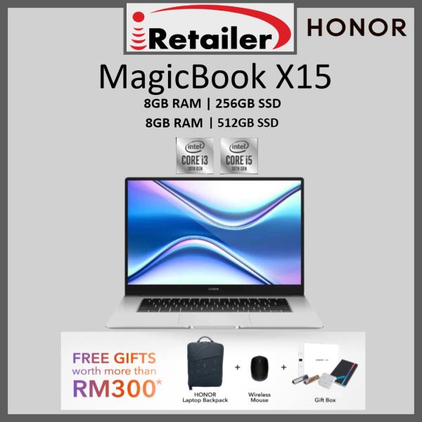 Honor MagicBook X15 i5 / i3 ( 8GB RAM | 512GB SSD / 256GB SSD) - 100% Original with Honor Malaysia 2 years warranty Malaysia