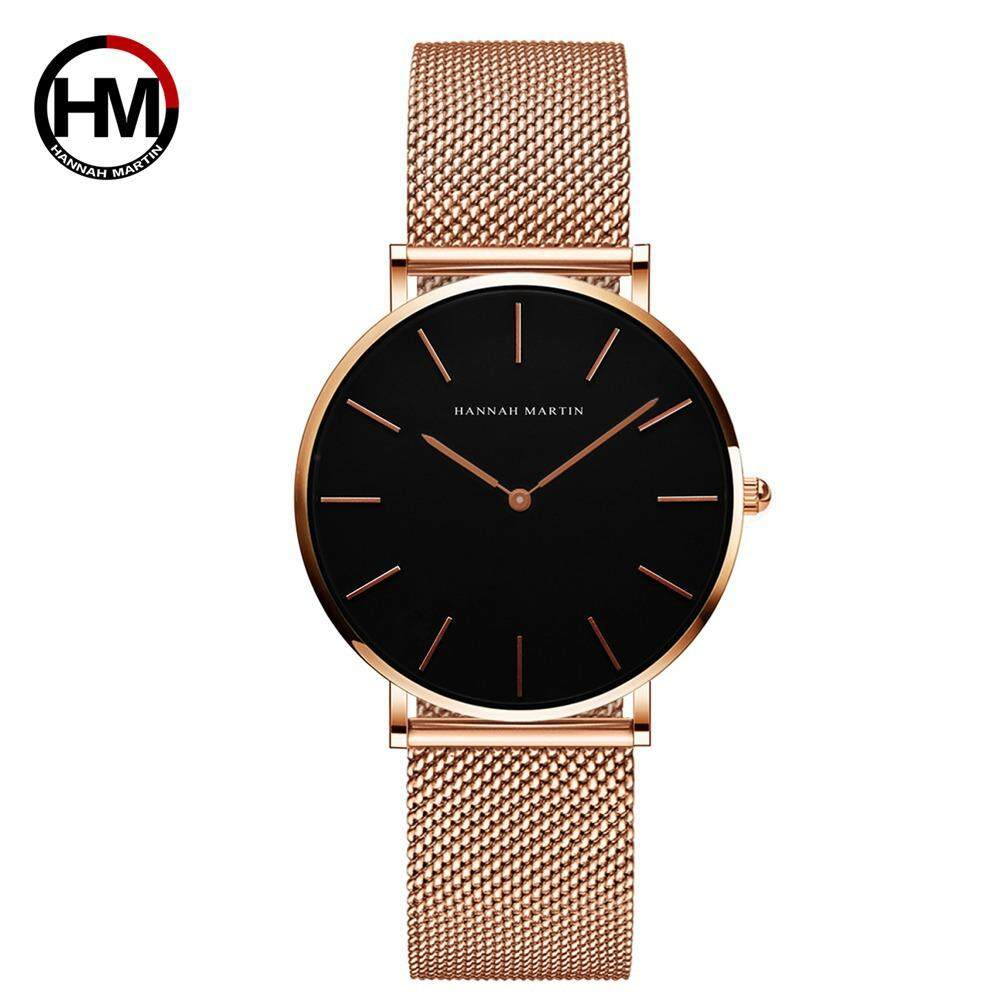 [FREE SHIPPING]100% Original New Brand H&M HANNAH MARTIN Fashion Watch For Women Business Causal Waterproof Watches Stainless Steel Starp JAPAN Movement Quartz Watches Malaysia