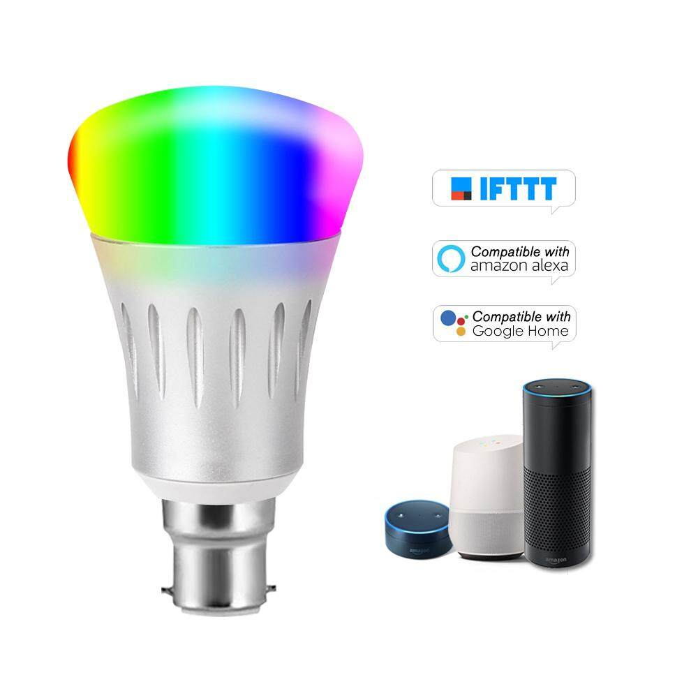 V1-S Smart WIFI LE-D Bulb RGB+W LE-D Bulb 11W B22 Dimmable Light Phone  Remote Control Group Control Compatible with Alexa Goo-gle Home Tmall Genie