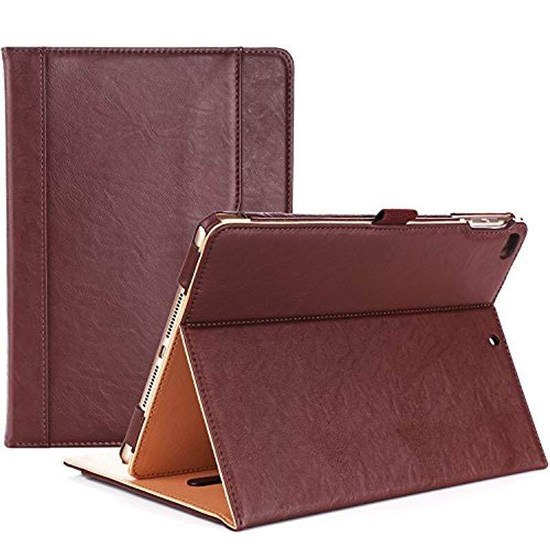 ProCase iPad 9.7 Case 2018/2017 iPad Case - Stand Folio Cover Case for Apple iPad 9.7 inch Also Fit iPad Air 2 / iPad Air -Brown