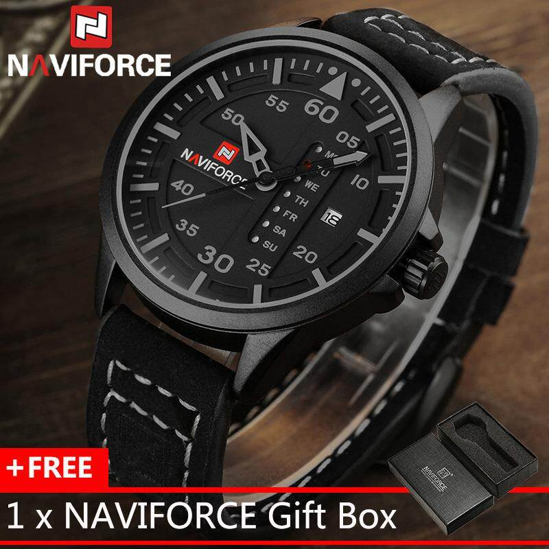 5fb57d147 naviforce products for the best prices in naviforce man quartz wrist watch  genuine leather strap men · new watches men luxury brand ...