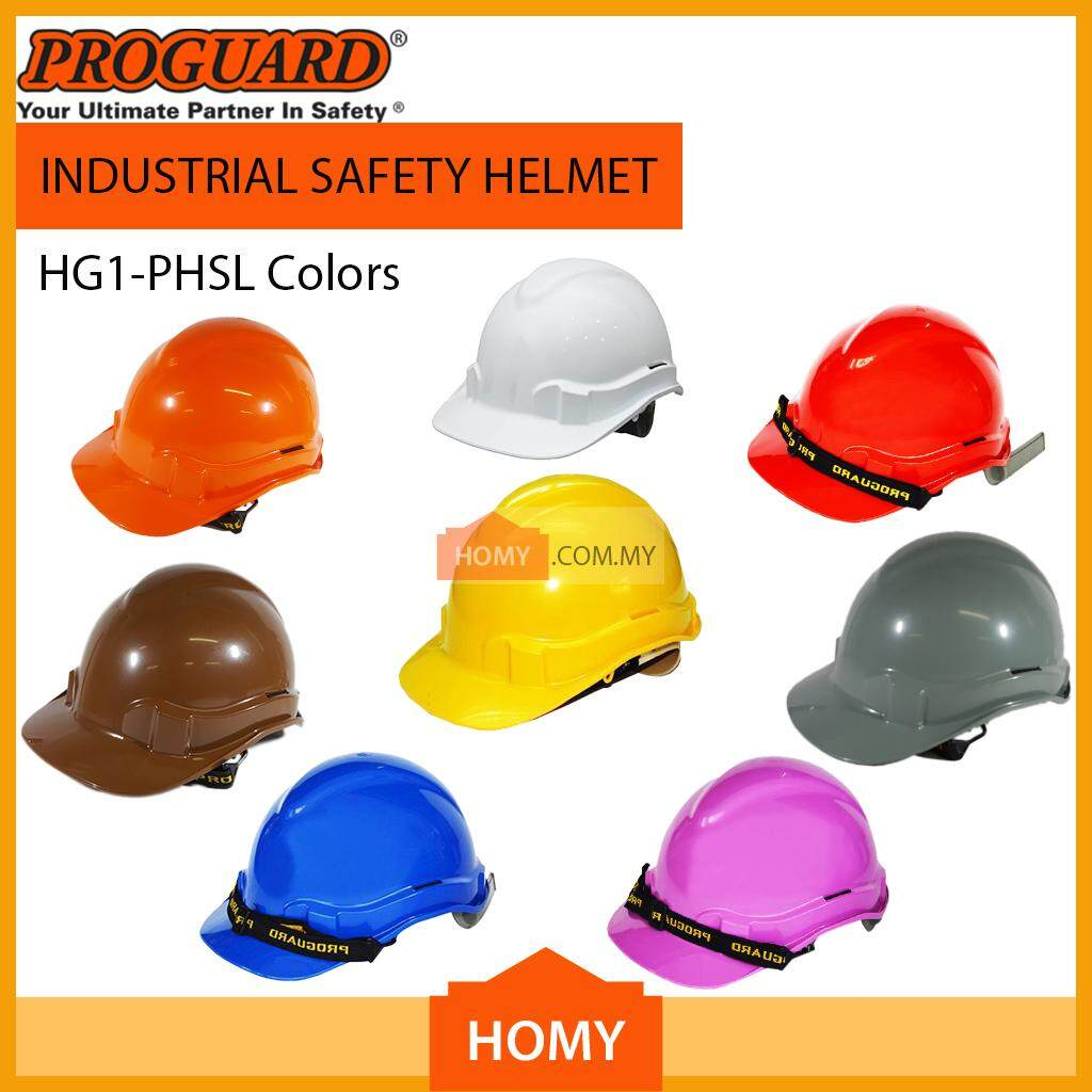 PROGUARD SIRIM Safety Helmet Advantage 1 HG1-PHSL (Yellow, Blue, Brown, Grey, Green, Orange, Purple, Red, White)