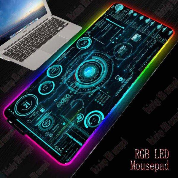 Garis Sejuk Abstrak Permainan Rgb Besar Tetikus Pad Gamer Besar Mouse Mat Komputer Mousepad Led Lampu Latar Keyboard Meja Mat Malaysia