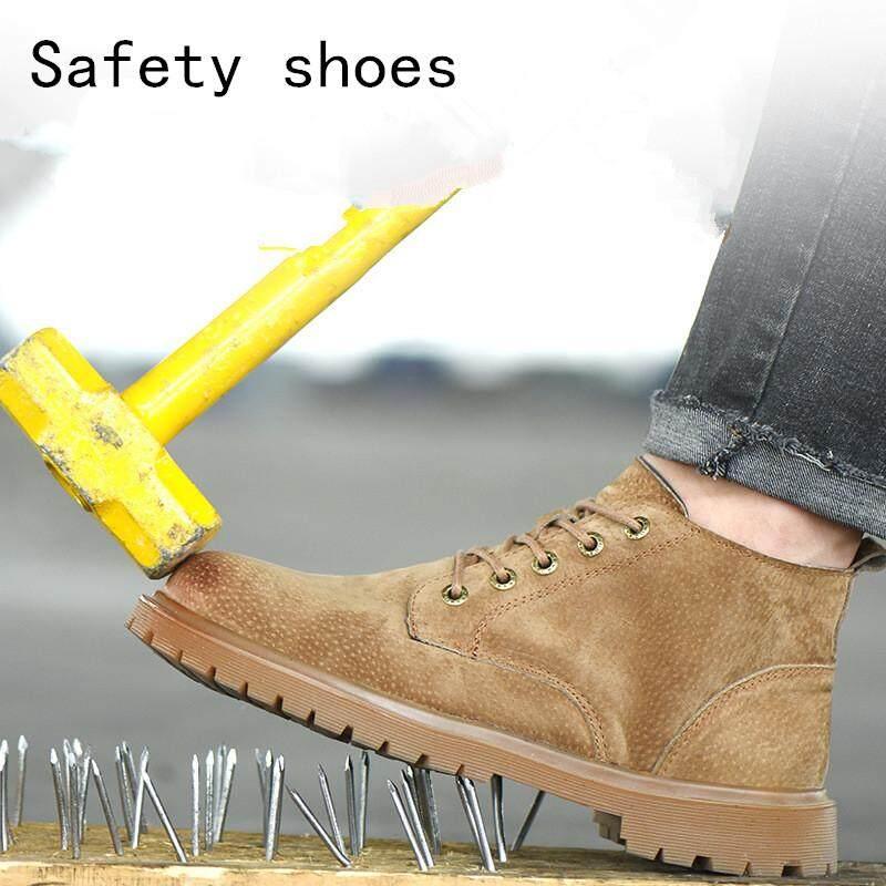 Giá bán Mùa hè Thoáng Khí Cao Giúp Lao Động Bảo Hiểm Giày Nam Da Heo Chống đập phá Chống đập phá Khử Mùi Giày Công Sở Giày