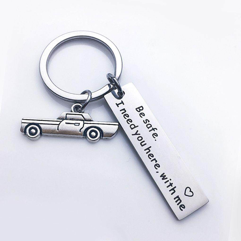 Letters Engraved Drive Safe Personalized Custom Keyring Stainless Steel Car  Key Ring Husband Boyfriend Gift Keychain