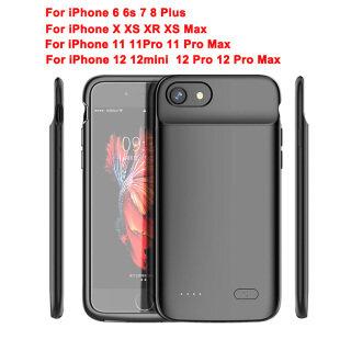 TVCC ốp lưng sạc dự phòng iPhone Sạc Trường Hợp, Ốp Sạc Mở Rộng Có Thể Sạc Lại Cho iPhone 5 5S SE 6 7 8 Plus X XS XR XS Max 12 Mini 12 Pro Với TPU Khung Dành Cho iPhone SE (Thế Hệ 2) 8 7 6 pin sạc dự phòng kiêm ốp thumbnail