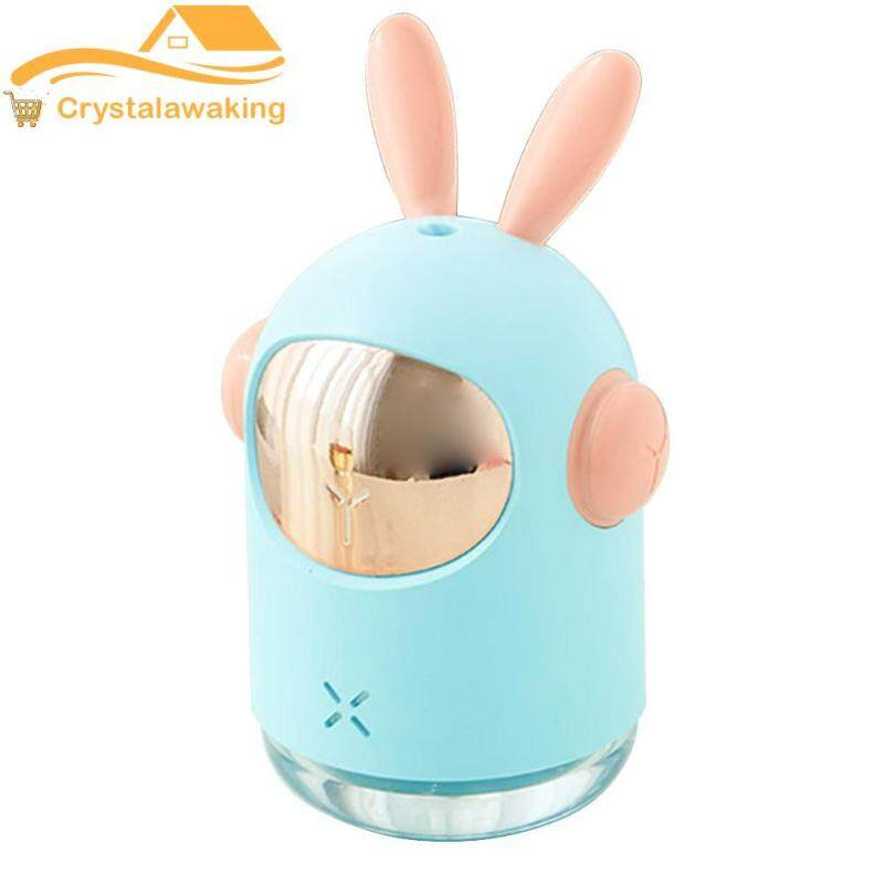 300ml Rabbit Ultrasonic Air Humidifier Aroma Essential Oil Diffuser Mist Fogger Household Car Supply Singapore