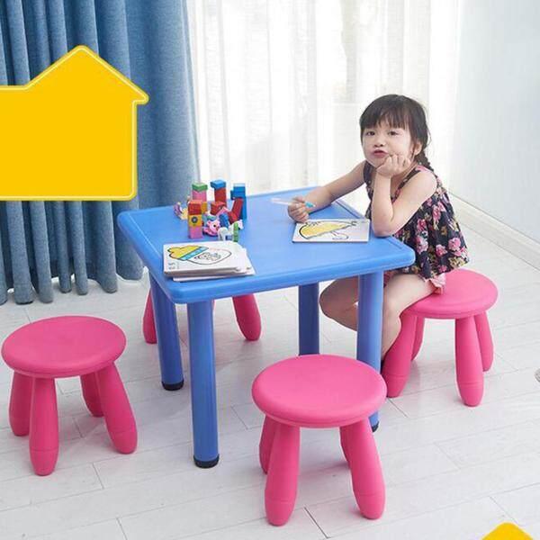 Fenteer 2PCS Assembly Children Chair Round Shape School Nursery Kids Stools
