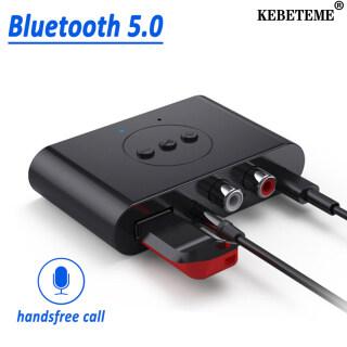 KEBETEME Bộ Thu Âm Thanh Bluetooth 5.0 Bộ Chuyển Đổi Không Dây Âm Nhạc Stereo Giắc Cắm AUX RCA 3.5Mm Có Mic Cho Loa Xe Hơi thumbnail