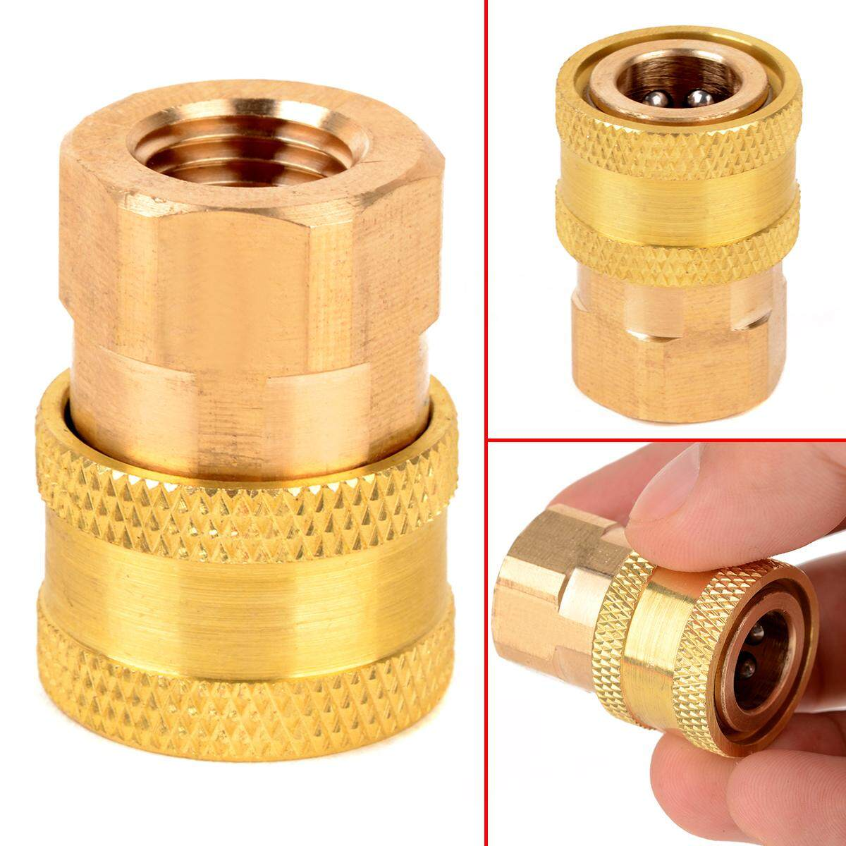 idealhere 1/4 Female NPT Brass Quick Connect Coupler for Pressure Washer 12mm ID