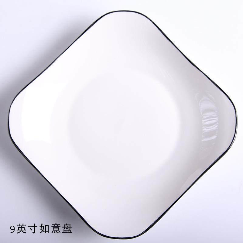 Piring Keramik Kreatif Perlengkapan Meja Makan Hotel Kopi Hidangan Makanan Penutup Hidangan Piring Hadiah.
