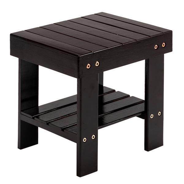 [Wondering]Children Bamboo Bench Stool Foot Stool Living Room Change Shoe Bench