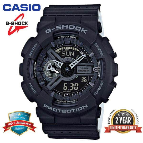 (2 Years Warranty) Original Casio G Shock_GA-110LP-1APR Men Sport Digital Watch Duo W/Time 200M Water Resistant Shockproof and Waterproof World Time LED Auto Light Wist Sports Watches GA110/GA-111 Black White Malaysia