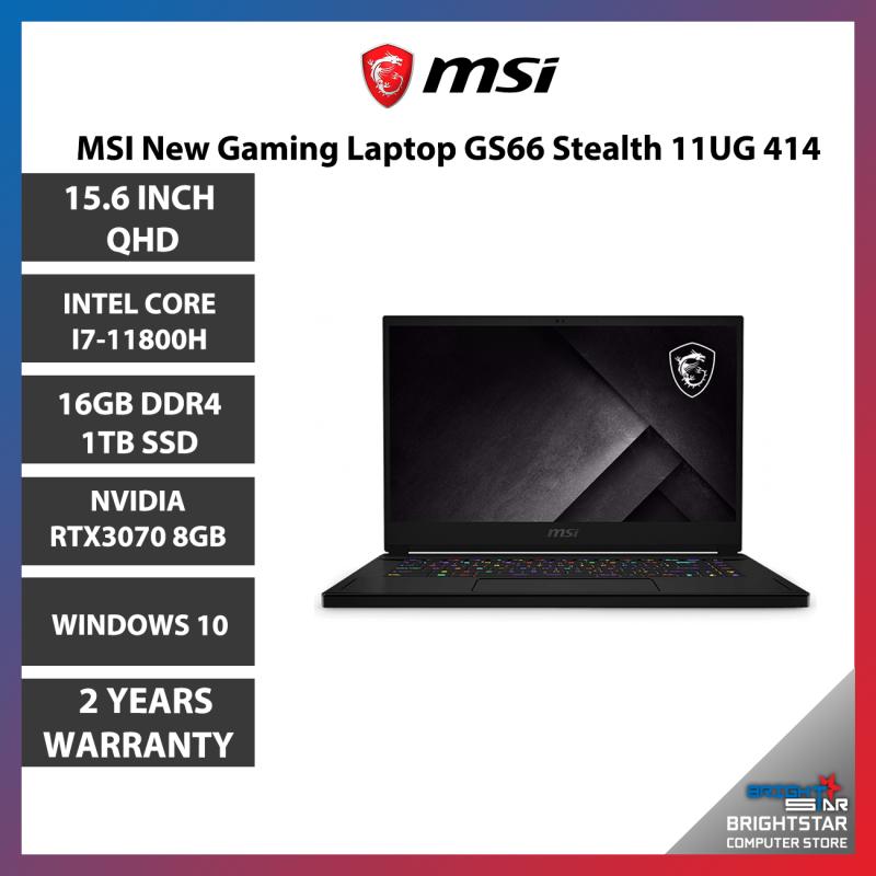 MSI New Gaming Laptop GS66 Stealth 11UG 414 (15.6 QHD IPS 165Hz / Intel i7 11800H / 16GB RAM / 1TB PCie SSD / RTX3070 8GB / Windows 10 / 2 Years Warranty) Malaysia