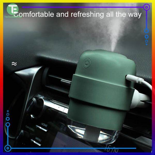 Car Air Humidifier Mini Silent Night Light Desktop Essential Aroma Diffuser Mist Maker Sprayer Singapore