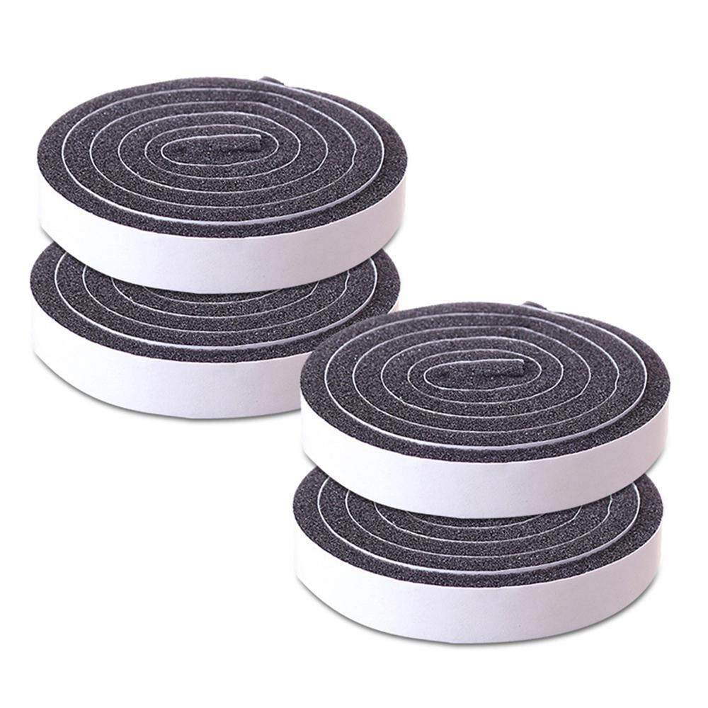 SilyNew 4pcs Self Adhesive Door Foam Sealing Window Seal Tape Strip Draught Excluder Rubber Photograph