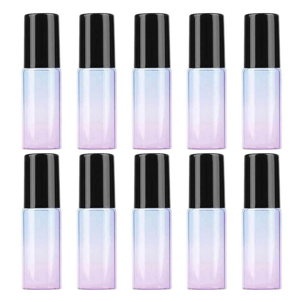 6a591320b823 Stay 10pcs 5 ml Essential Oil Color Gradient Thick Roller Glass Ball Bottle  Of Perfume Empty Roll On Durable For Travel