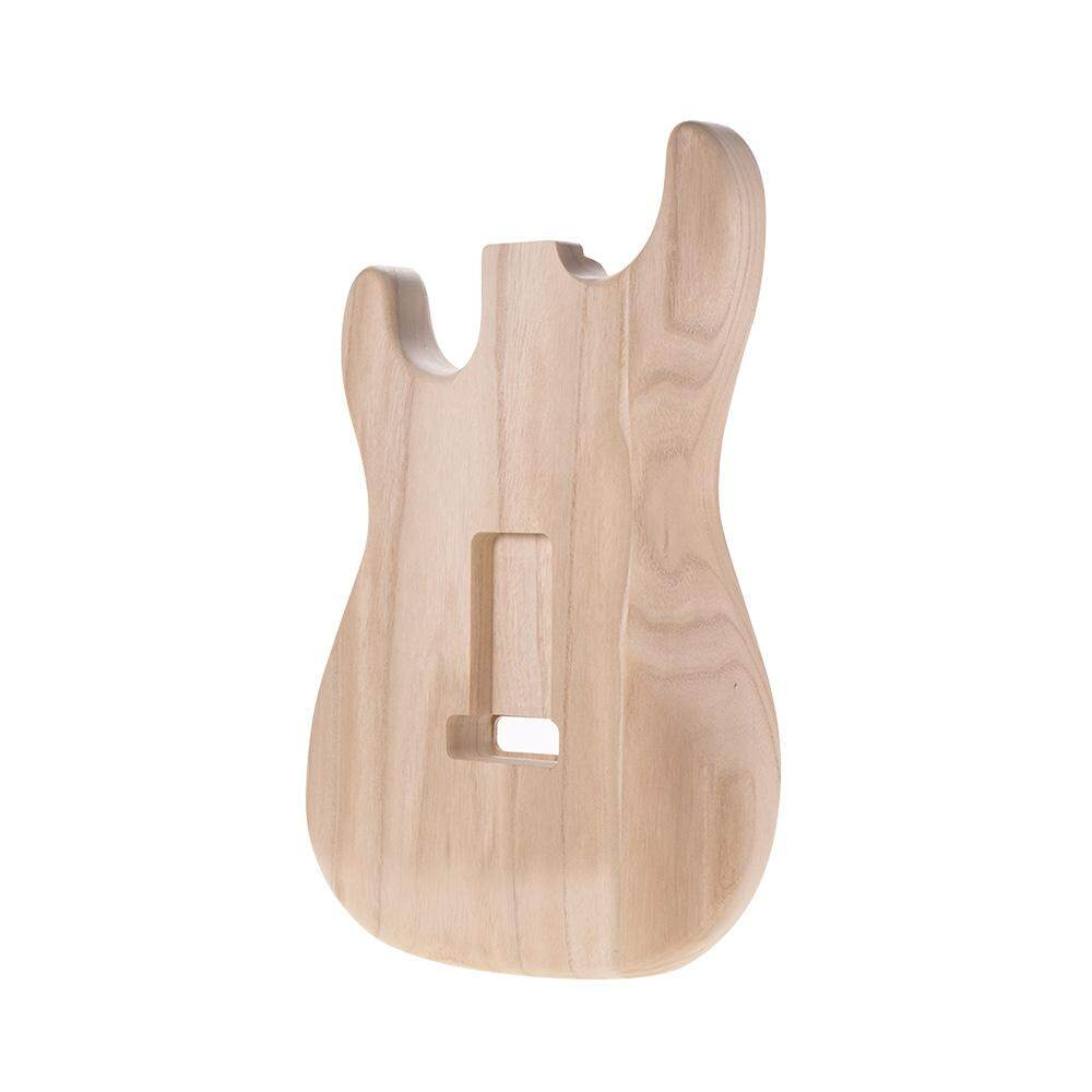 Muslady ST01-TM Unfinished Handcrafted Guitar Body Candlenut Wood Electric Guitar Body Guitar Barrel Replacement Parts