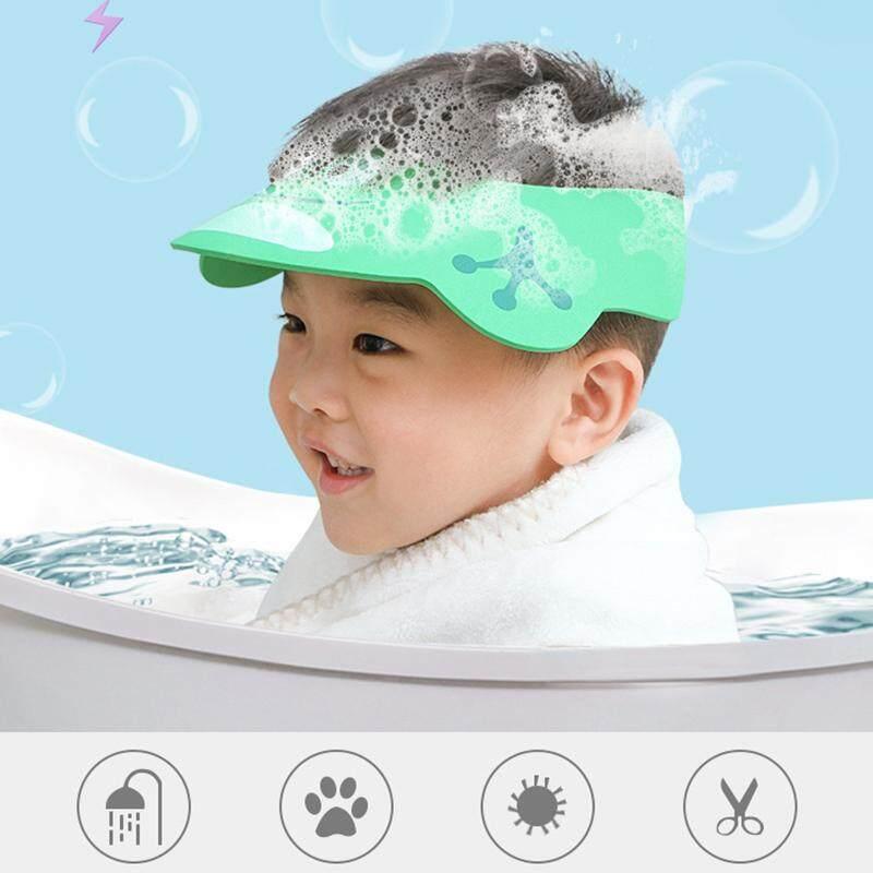 Wash Hair Shield Cap Catoon Pig Patern Adjustable Sun Visor Cap for Child Kid