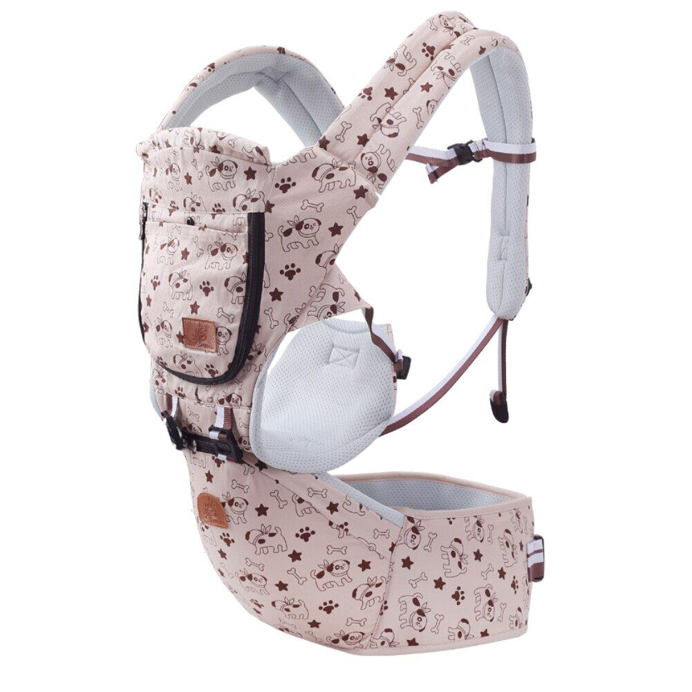 Fashion Baby Infant Carrier Strap Adjustable Breathable Cotton Front Pouch Waist Stool