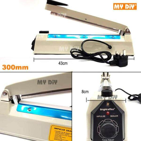 MYDIYHOMEDEPOT - Impulse Sealer Plastic Bag Packing / Seal Plastic Bag With 3 Pin Plug - Available size 200mm or 300mm