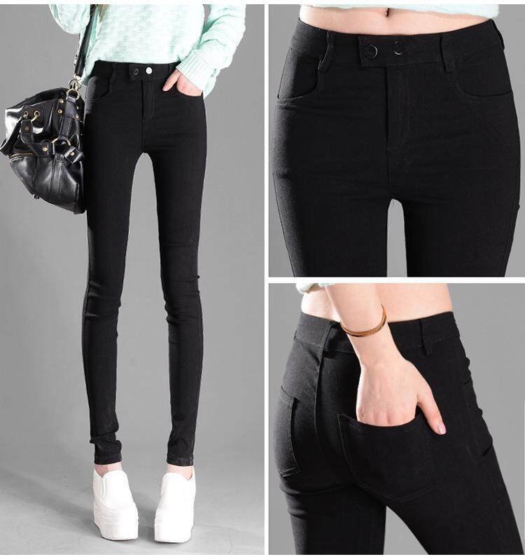 7b8bf8bba5 Plus Size 2019 New Women Pants Spring Summer Casual Jeans Pencil Pants Lady  Skinny Long Trousers Candy color