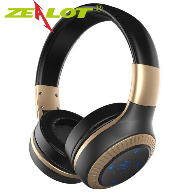 Tai Nghe Zealot B20, Tai Nghe Bluetooth 5.0 Không Dây Dành Cho Tất Cả Điện Thoại Thông Minh, Có Micro Tai Nghe Có Thể Gập Lại Âm Thanh Nổi Bass Rảnh Tay