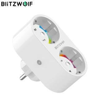 BlitzWolf BW-SHP7 Ổ Cắm WIFI Thông Minh 16A Hai EU, Bộ Hẹn Giờ Công Tắc Đèn Gia Đình Thống Kê Điện Điều Khiển Từ Xa Độc Lập thumbnail